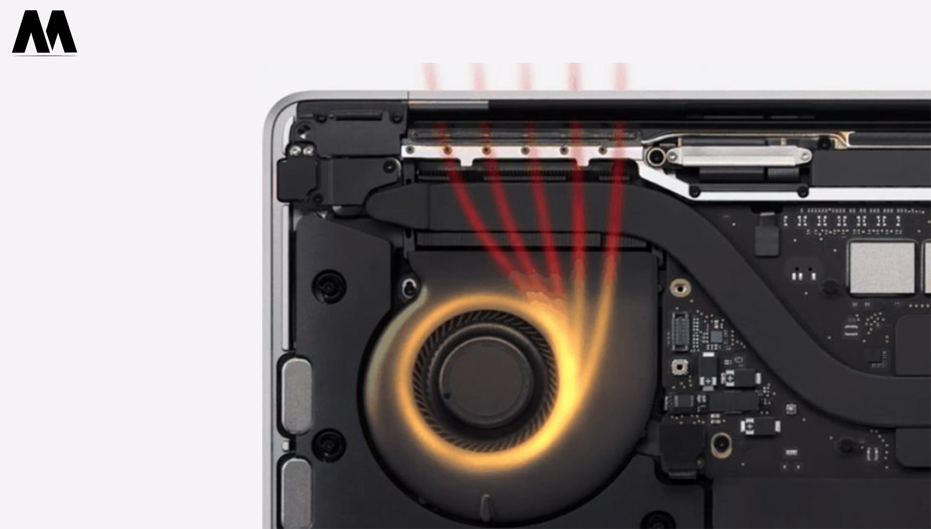 Quạt trên MacBook Pro M1 13-inch 2020