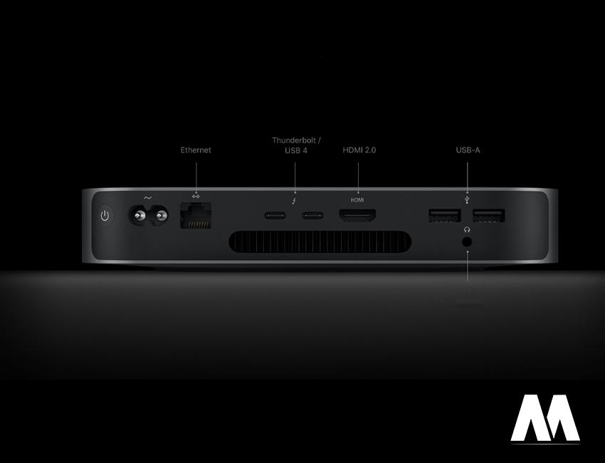 Mac Mini M1 2020 sở hữu khả năng kết nối lý tưởng khi có đủ các cổng