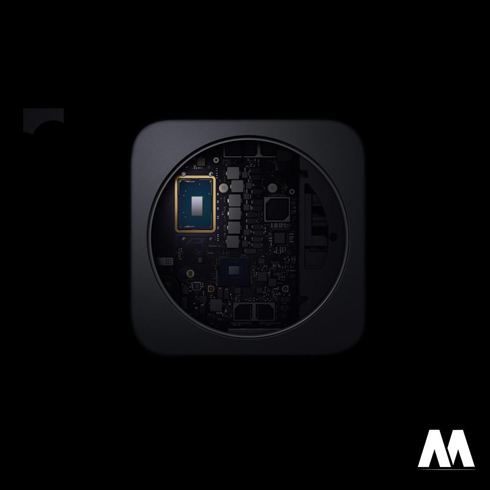 Quạt tản nhiệt được trang bị trên Mac Mini M1 2020 hạn chế sự nóng lên của máy trong quá trình sử dụng
