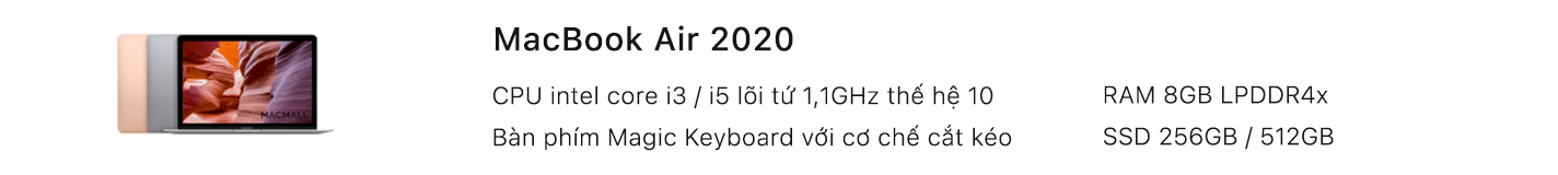 MacBook Air 2020 cũ