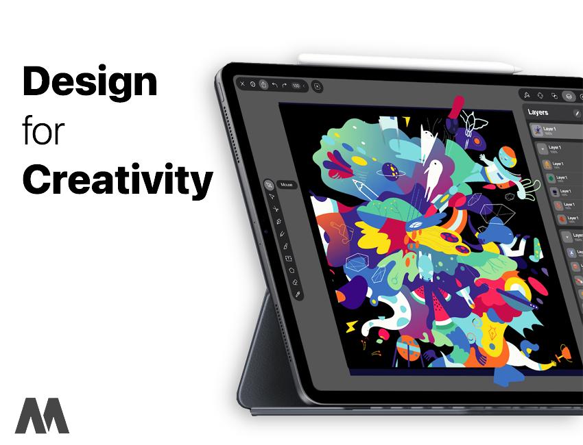 Thoả sức sáng tạo trên iPad nhờ khả năng tương thích hoàn hảo với Apple Pencil