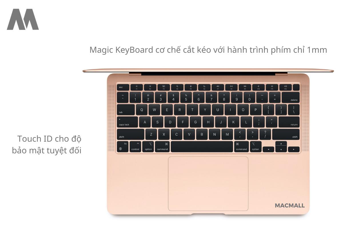 Bàn phím Magic KeyBoard tạo nên sự hoàn hảo cho máy Air M1