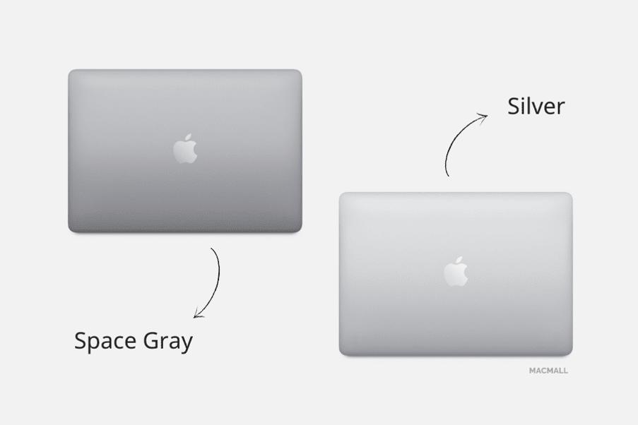 MacBook Pro 2020 13-inch có 2 màu Silver và Space Grey