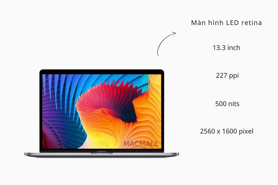 Màn hình Retina trên MacBook Pro M1 13-inch 2020