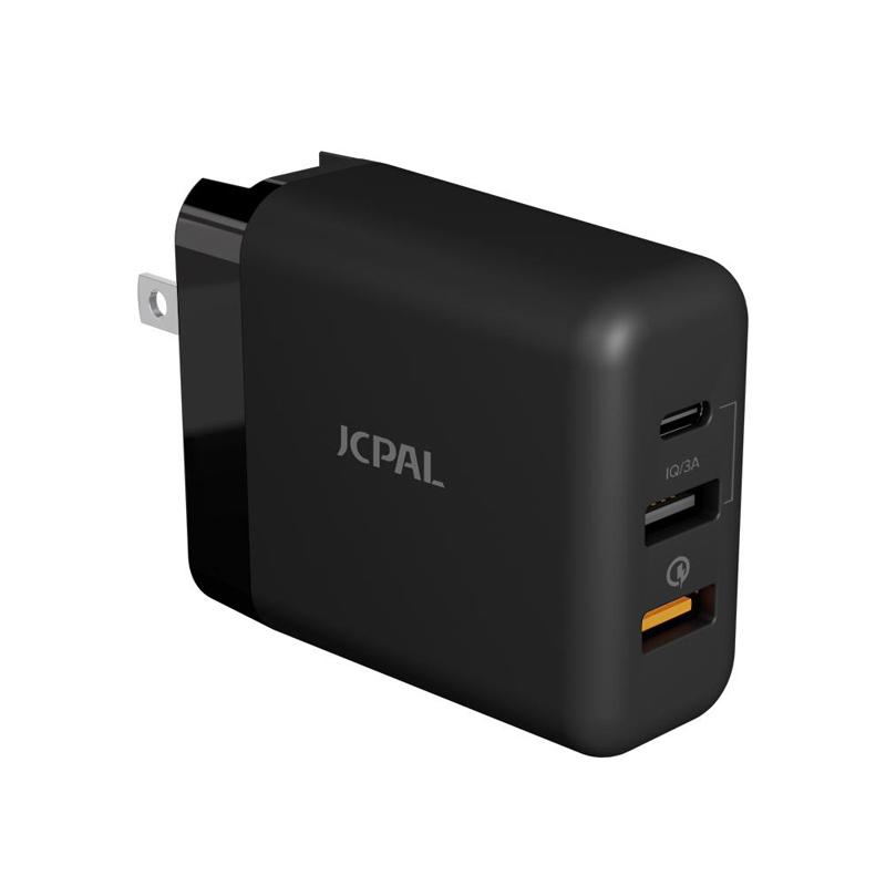 CỐC SẠC JCPAL TRAVEL MULTIPORT QC 3.0