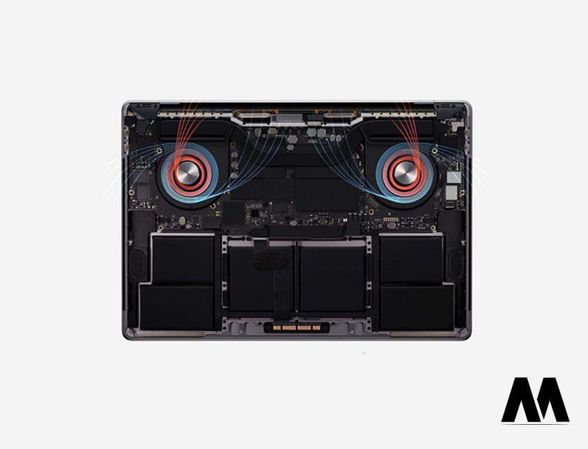 Hệ thống tản nhiệt được cải tiến MacBook 16 inch 2019 hạn chế nóng lên