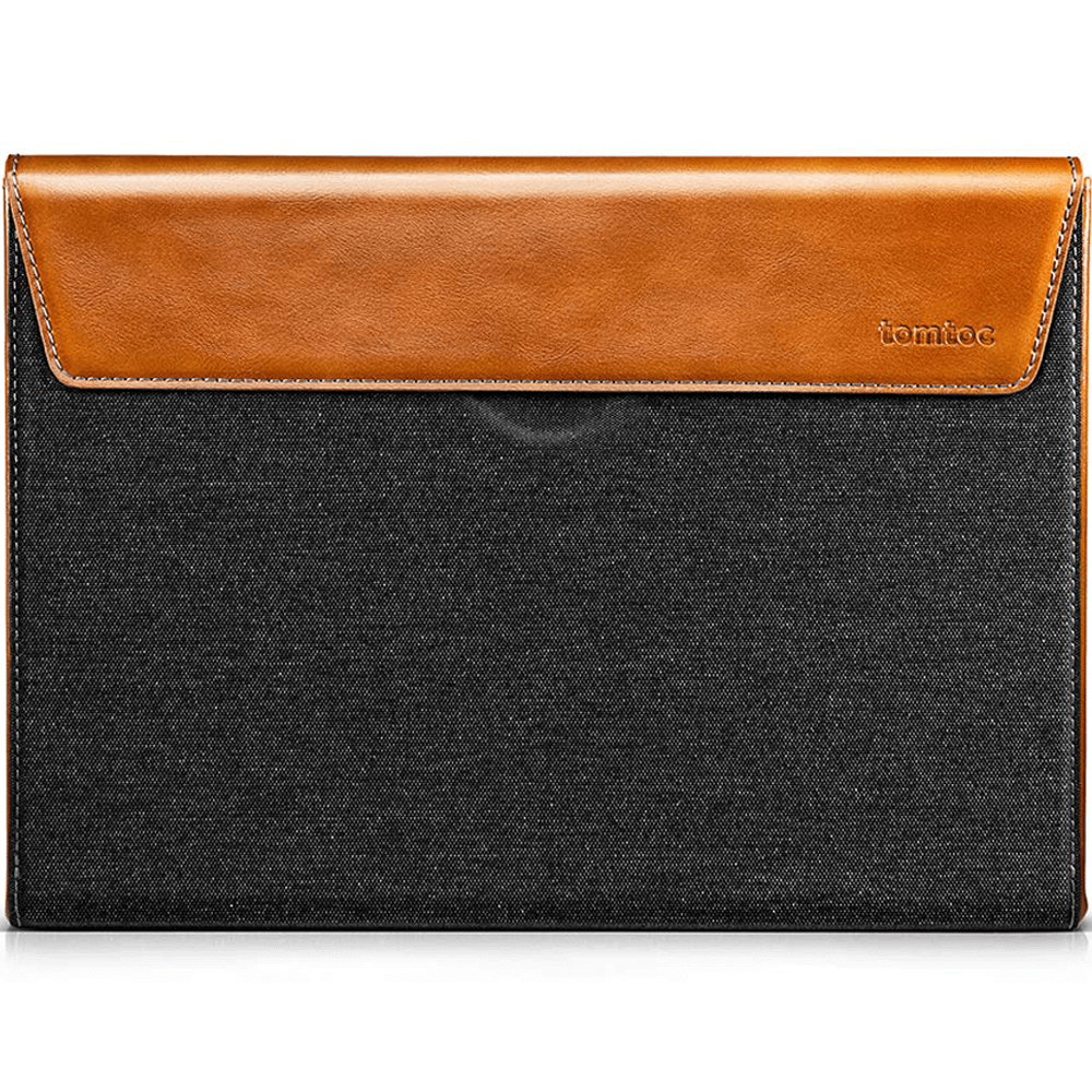 "Túi Chống Sốc Tomtoc (USA) Premium Leather For MacBook 16"" Gray"