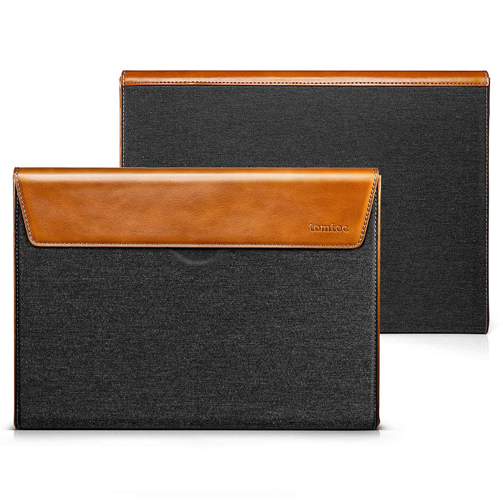 "Túi Chống Sốc Tomtoc (USA) Premium Leather For MacBook 13"" Gray"